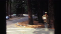 1969: beautiful memory of a place in the wilderness with rocky mountains  Stock Footage