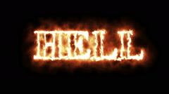 Concept of word hell in fire Stock Footage
