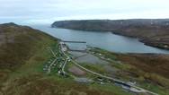 North Cape (Nordkapp) in northern Norway. Stock Footage