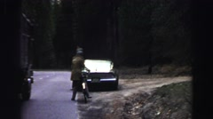 1969: person looking up the tall mountain YOSEMITE, CALIFORNIA Stock Footage