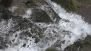 Top of Waterfall Scene Stock Footage