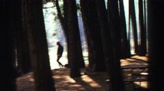 1969: a brisk walk in the wilderness is healthy YOSEMITE, CALIFORNIA Stock Footage