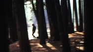 1969: a brisk walk in the wilderness is healthy YOSEMITE, CALIFORNIA Stock Footage