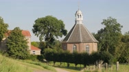 Church in small town,Boven Leeuwen,Netherlands Stock Footage