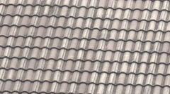 Roof tiles in the building Stock Footage