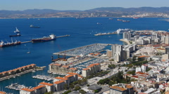 Gibraltar overview.  In sunshine Stock Footage