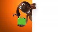 Fun dog - 3D Animation Stock Footage