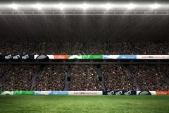 Rugby fans in arena Stock Illustration