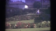 1951: my villa and it's garden is always attracting visitors to watch Stock Footage
