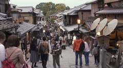 Sannen-zaka Preserved Districts in Kyoto Stock Footage