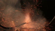 Fuse. Igniter blasting. Explosive charges ignition method. Accident . Stock Footage