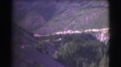 1951: beautiful canyon full of trees plant life and river in unspoiled nature Stock Footage