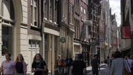 Small street with historical buildings,Amsterdam,Netherlands Stock Footage
