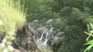 Amazing Waterfall in Forest Stock Footage