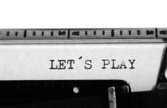 Typewriting on an old typewriter Stock Photos