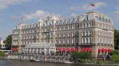 Famous Amstel hotel,Amsterdam,Netherlands Stock Footage
