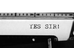 Typewriting on an old typewriter. Stock Photos
