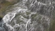 Water Flows on Big Rock Surface Stock Footage