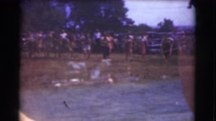 1951: running race in a scenic way at dream CANADA Stock Footage