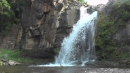 Waterfall Side Scene Nature Footage Stock Footage