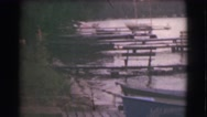 1951: fishing boat in the lake CANADA Stock Footage