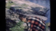 1951: outdoors man CANADA Stock Footage