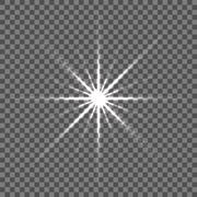 Shining vector star illustration. Glow spot radiance Stock Illustration