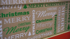 Box For Christmas Gifts Stock Footage