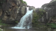 Waterfall from High Big Rocky Mountains Stock Footage