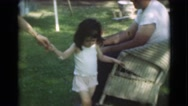 1951: young girl holding hands and walking. CANADA Stock Footage