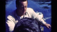 1951: walk through beautiful waters enjoying the good nature  Stock Footage