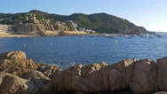 Nice view of Tossa de Mar, Spain Stock Footage