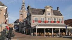 Waag monument with speeltoren tower,Monnickendam,Netherlands Stock Footage