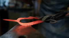 Metal forging on the anvil Stock Footage