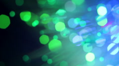 Close up of fiber optics Stock Footage
