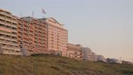 Huis ter Duin hotel at beach,Noordwijk aan Zee,Netherlands Stock Footage