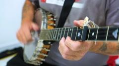 Man Playing Banjo Stock Footage