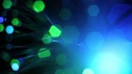Close up of fiber optics Stock Footage