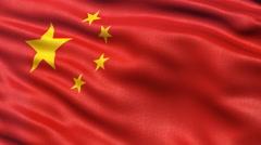 China flag seamless loop Stock Footage
