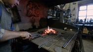 Manual Metalworking, blacksmithing Stock Footage