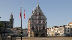 City Hall on market square,Gouda,Netherlands Stock Footage