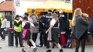 4K 2016 Munich Oktoberfest Octoberfest entrance police security check German Stock Footage