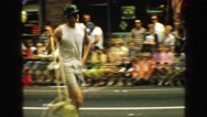 1968: the high school band practiced long and hard for their parade performance. Stock Footage
