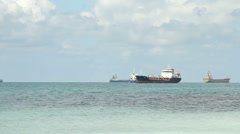 Oil tanker sailing in the sea Stock Footage