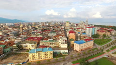 Aerial view of Batumi, Georgi Stock Footage