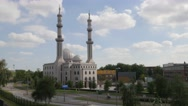 Mosque alonf road,Rotterdam,Netherlands Stock Footage