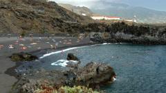Beaches on the island of La Palma. Stock Footage