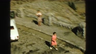 1968: women in pink running VANCOUVER, CANADA Stock Footage
