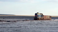 Old rusty train on the salt lake Baskunchak Stock Footage