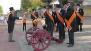 Folklore celebration  with shooting canon,Grave,Netherlands Stock Footage